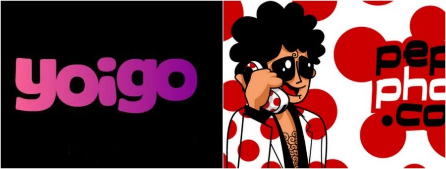 Logos de Yoigo y Pepephone