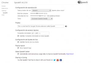 iSpeech Configuración