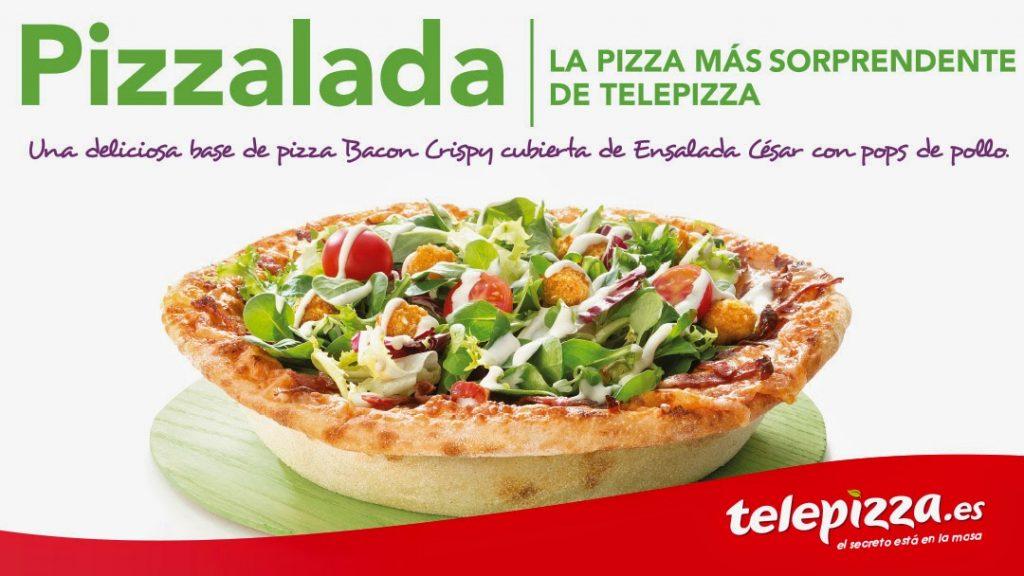 Promoción de Telepizza: Ensaladas y hamburguesas