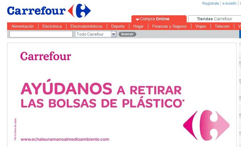 Carrefour y las bolsas de plástico