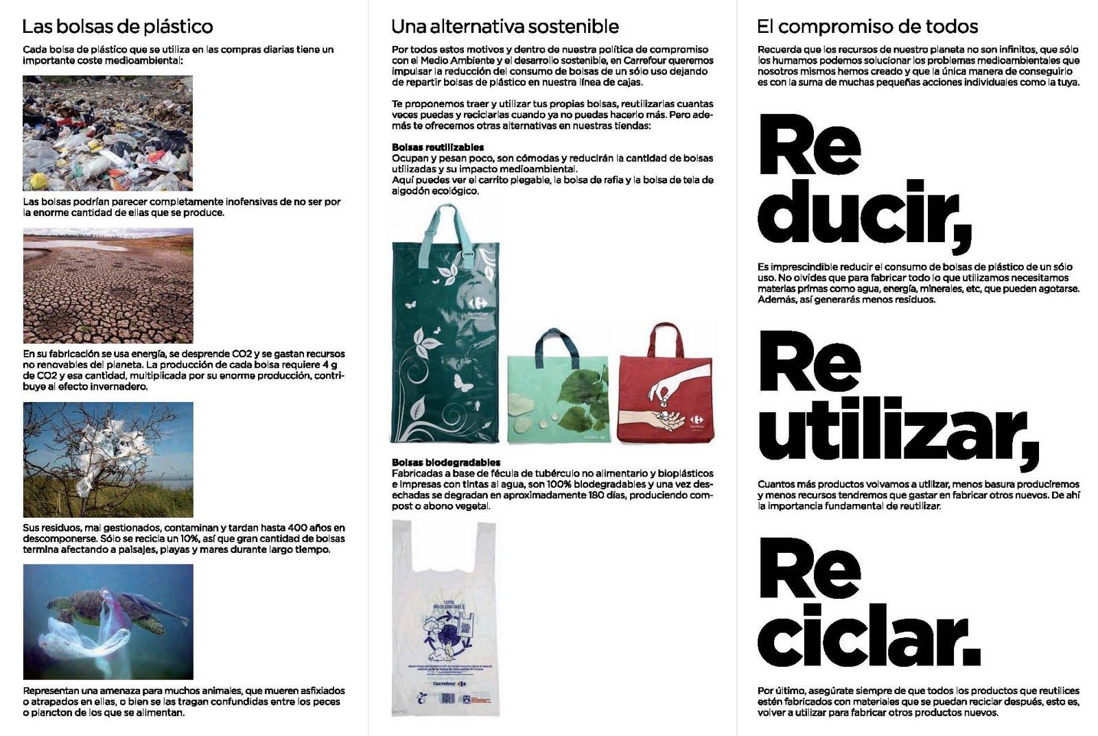 Carrefour contra las bolsas de plástico