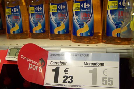 Comparativa de precios entre Carrefour y Mercadona