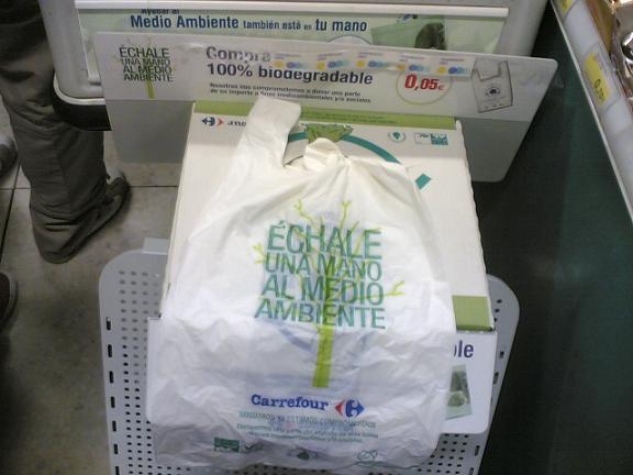 bolsas biodegradables de Carrefour