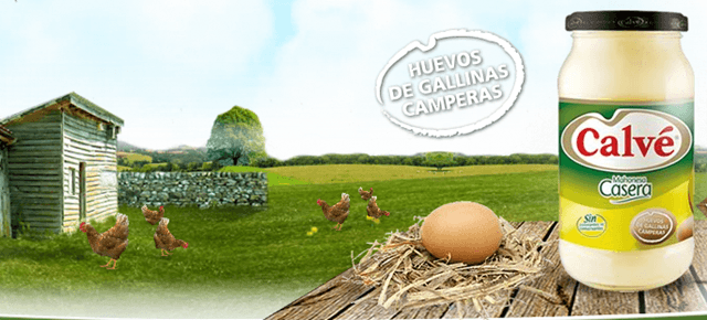 Mayonesa Calvé con huevos de gallinas camperas