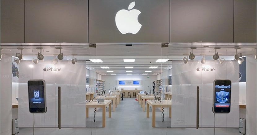 Vista de una Apple Store