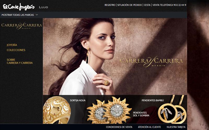 El Corte Inglés abre una tienda Online de marcas de lujo