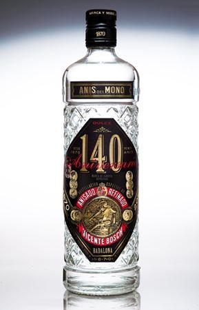 Botella de Anís del Mono especial 140 Aniversario
