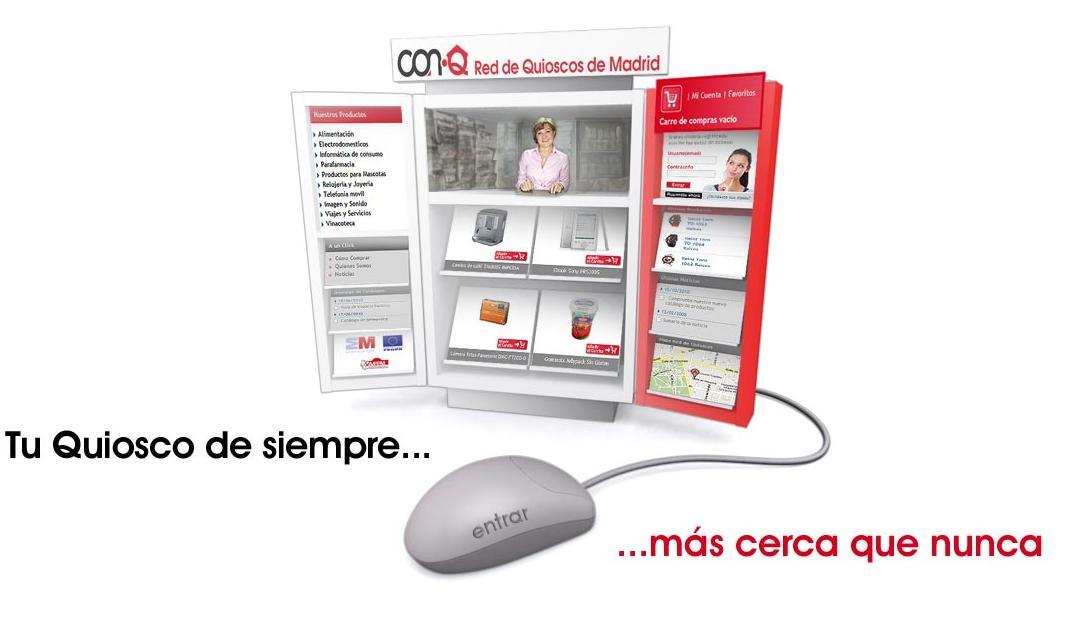 La red de quioscos de Madrid se suma a Internet