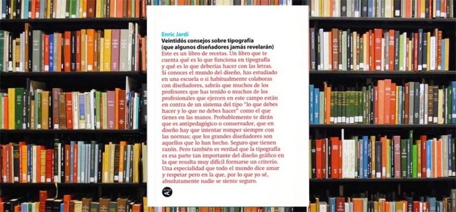 "Libro ""Veintidós Consejos sobre Tipografía"""