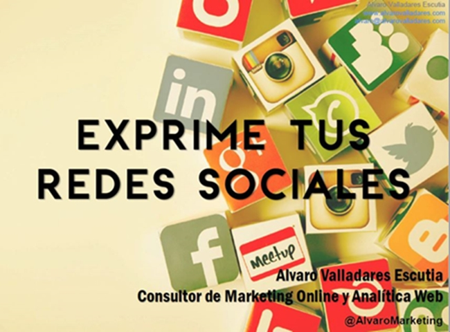 Exprime tus Redes Sociales. Aumenta tu productividad