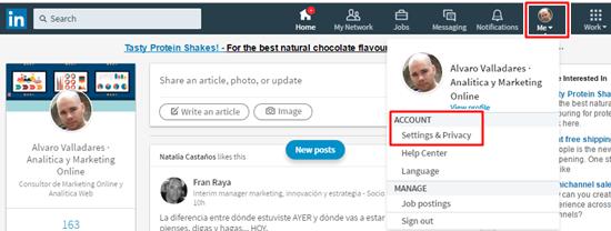 Configuración de la Privacidad en LinkedIn