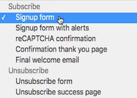 Distintos tipos de formularios de suscripción en MailChimp